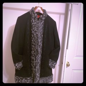 AK ANNE KLEIN Black 💯% Wool Coat  Size M